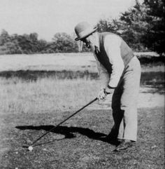Constantin Brancusi playing golf, Fontainebleau, 25 Sept. 1923 -nd