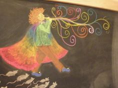 Meant to be the Pied Piper of Fractionburgh for third grade math, but I might draw it for my flute-blowing rainbow lad
