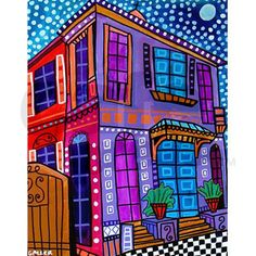 Heather Galler New Orleans French Quarter Art 5'x7 $165.00