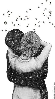 Image discovered by Zoridiel López Díaz. Find images and videos about love, art and couple on We Heart It - the app to get lost in what you love. Love Wallpaper, Wallpaper Backgrounds, Iphone Wallpaper, Drawing Sketches, Art Drawings, Hipster Vintage, Couple Drawings, Art Graphique, Couple Art