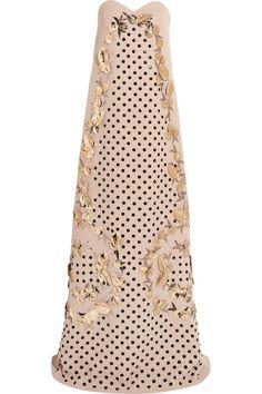 DELPOZO|Embellished silk-blend gown