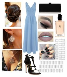"""""""Winter formal"""" by kate6315 ❤ liked on Polyvore featuring JS Collections, Edie Parker, Sebastian Milano and Giorgio Armani"""