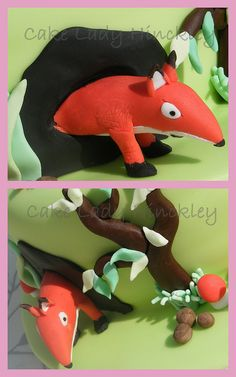 Cake Lady Hinckley - Fox - My Daughters Gruffalo Cake Baby Boy First Birthday, 1st Birthday Cakes, Third Birthday, Gruffalo Party, Gruffalo's Child, To My Daughter, Daughters, Woodland Party, Celebration Cakes