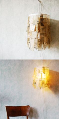 Sewing pattern lamp