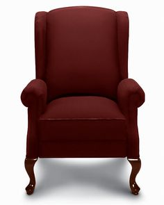 Get ready for comfort… and lots of compliments with our Jennings high leg recliner. Classic Queen Anne styling combined with body-soothing reclining comfort, the Jennings lets you take a high style approach to reclining. Featuring a tall wing back, flared roll arms, box seat and warmly finished cabriole legs.