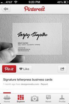 Business card idea...