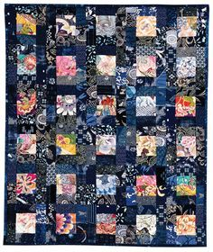 """""""Bento Box"""" quilt by Judy Turner & Margaret Rolfe, from 'Successful Scrap Quilts from Simple Rectangles'"""