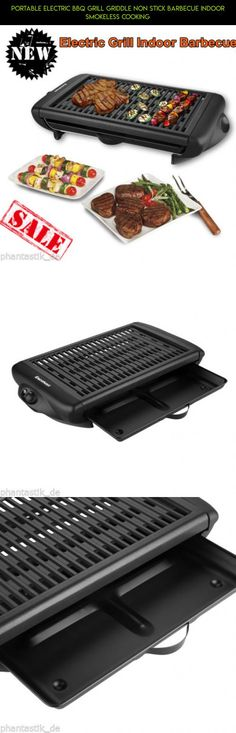 Portable Electric BBQ Grill Griddle Non Stick Barbecue Indoor Smokeless Cooking #fpv #grills #parts #indoor #gadgets #racing #camera #shopping #drone #products #electric #kit #technology #plans #tech