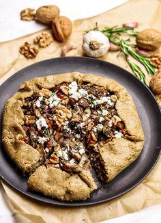 Walnut Recipes, Delicious Vegan Recipes, Veggie Recipes, Vegetarian Recipes, Snack Recipes, Healthy Recipes, Snacks, Pizza, Quiches