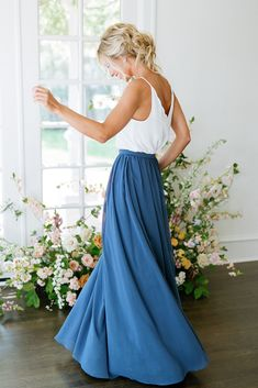 Bridesmaid Skirts, Bridesmaid Ideas, Bridesmaid Separates, Senior Photo Outfits, Boho Dress, Bohemian Dresses, Bridesmaids And Groomsmen, Formal Looks, Chiffon Skirt