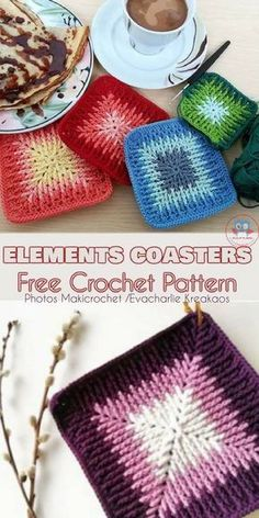Elements Cal Square for Blankets, Pillows, Centrepieces - Free Crochet Pattern and Video Tutorial | Your Crochet