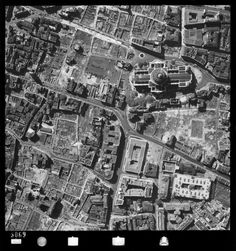 Post-war St Paul's from the air, 1948