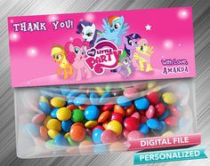 My Little Pony Treat Bag Toppers