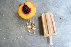 A perfect way to enjoy peach pie without turning the oven on: Peach Pie Popsicles // take a megabite