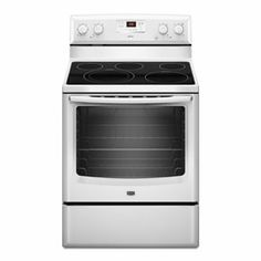 Maytag® 6.2 cu. ft. capacity electric range with Dual-Choice™ and Speed Heat™ elements (MER8674AW White) -