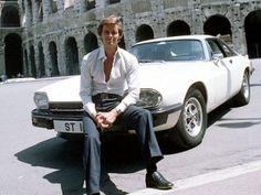 The Return of the Saint ( 1978 ) starring Ian Ogilvy Classic Tv, Classic Movies, Classic Cars, The Saint Tv Series, Jaguar Daimler, Classic Car Insurance, Jaguar Xj, Great Tv Shows, Vintage Tv