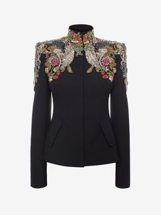 Jewel-Embroidered Tailored Jacket Jewel-Embroidered Tailored Jacket Shop Women's   Jewel Embroidered Tailored Jacket  from the official online store of iconic fashion designer Alexander McQueen. Look Fashion, Fashion Details, Hijab Fashion, Fashion Dresses, Womens Fashion, Fashion Design, Cheap Fashion, Mode Russe, Mode Abaya