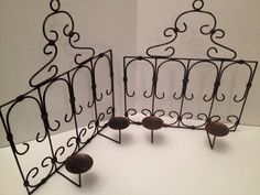 Sconces, candle holders large, scrolled Metal on Etsy, $26.99