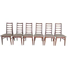 Four Teak Dining Chairs by Niels Kofoed | From a unique collection of antique and modern dining room chairs at https://www.1stdibs.com/furniture/seating/dining-room-chairs/