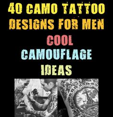 Camo tattoos are a miraculous achievement for guys who have an affinity with survivalist mentalities and militaristic grandiosity. Their elusive rustic allure is truly unrivaled among today's outdoorsy fellows. Do you want to don your camouflage for #camouflage #designs #ideas #tattoo Camo Tattoo, Mens Fashion Blog, Tattoo Designs Men, Miraculous, Camouflage, Rustic, Cool Stuff, Guys, Tattoos