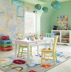 Kids' map room!