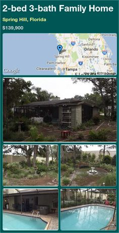 2-bed 3-bath Family Home in Spring Hill, Florida ►$139,900 #PropertyForSale #RealEstate #Florida http://florida-magic.com/properties/13665-family-home-for-sale-in-spring-hill-florida-with-2-bedroom-3-bathroom