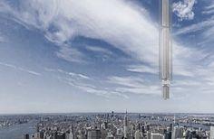 Analema Tower: mega-estructura colgada de un asteroide. Analema Tower es la idea de la firma de arquitectos Clouds AO para construir un rascacielos colgado de un asteroide que orbitaría alrededor de la Tierra. Descripción, y explicación del concepto. El proyecto tiene en cuenta los avances y proyectos de las principales agencias espaciales. El edificio viajaría diariamente entre los dos hemisferios.  #Estructuras
