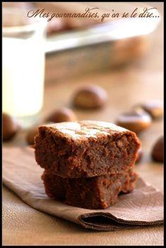 Fondant à la crème de marrons et au chocolat.
