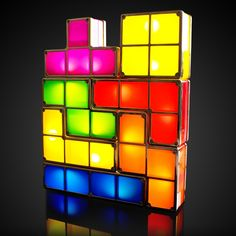 Tetris Lights http://thegadgetflow.com/portfolio/tetris-lights/?utm_content=buffer50ab6&utm_medium=pinterest&utm_source=pinterest.com&utm_campaign=buffer falling blocks together comes back but not as a mobile game through these magnificent blocks of Tetris Lights.buffer