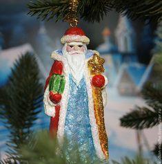 ватный дед мороз, елочные игрушки, елочная игрушка, ватная елочная игрушка, елочная игрушка из ваты, ватный, ватная, новый год