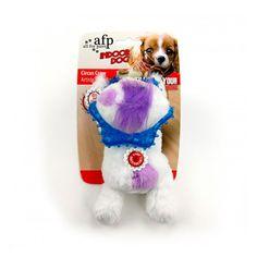 Brinquedos para Cachorros Filhotes Mordedor Vaca de Pelúcia Circus Crew Branco Afp - MeuAmigoPet.com.br #petshop #cachorro #cão #meuamigopet