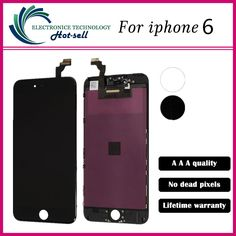 Test one by one 4.7 inch For Apple iPhone 6 LCD Complete Display Screen with Touch Glass Digitizer Assembly Replacement