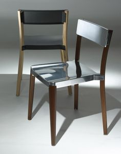 designandlovingit:  Steel + wood = love. Lancaster Chair by Michael Young for Emeco.