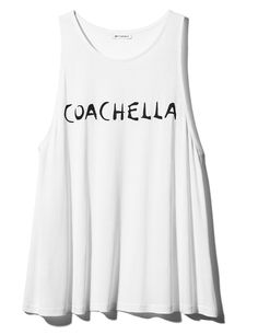 Camiseta blanca Coachella H&M (9,99 €)