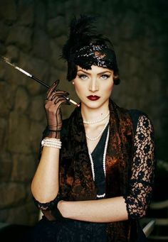 Idda van Munster: Dark Flapper Look by photographer Muna Nazak · Roaring 20s Makeup1920s ...