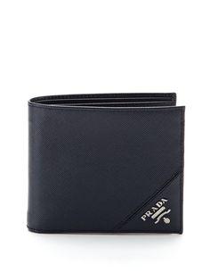 Saffiano Leather Bifold Wallet by Prada on Gilt.com