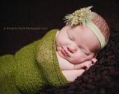 Baby Wrap, Newborn Photo Prop, Newborn Wrap Set, Newborn Headband, Knit Wrap, Newborn Wrap, Newborn Wrap, Photography Prop