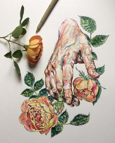 Hands and Flowers –