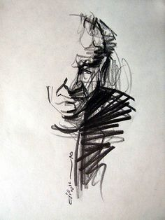 master of iranian music (FARAMARZ PAYVAR) free hand drawing Furthermore, a new 1968 petrol painting Gesture Drawing, Life Drawing, Figure Drawing, Drawing Sketches, Painting & Drawing, Art Drawings, Drawing Drawing, Hipster Drawings, Drawing Faces
