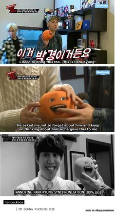 haha Kyung is annoying orange? | Block B