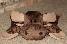 Soft and Snugable Moose Animal Blanket by LittleDogBlue on Etsy, $30.00