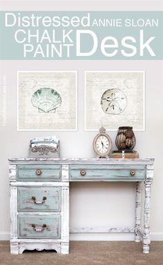 annie sloan chalk paint desk by elvira