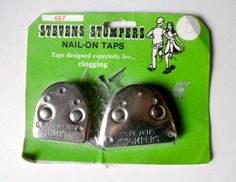 Vintage 1970s Steel Shoe Taps // Clogging Taps // by JackpotJen, $16.50