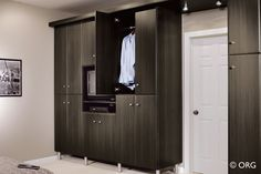 Not necessarily the color, but kinda digging the built-in idea for a room with no closet!