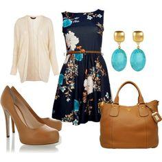 floral high-neck cocktail dress