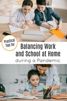 Are you wondering how to handle working and homeschooling at the same time? It's challenging! Here are some tips to balance work and school at home with kids during this pandemic. Parenting Advice, Kids And Parenting, Lactation Consultant, Parent Resources, Early Childhood Education, Health Education, Stress Management, Free Time, School Days