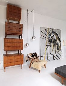 Wall Unit from Mid Century Sideboards | Copenhagen home of Mie Olise