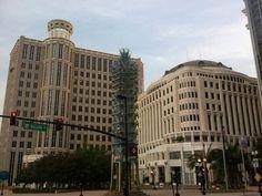 Orlando city hall  #Downtown Orlando Orlando City, Downtown Orlando, Pensacola Florida, Sea World, Universal Studios, Walt Disney World, Palm Trees, Places Ive Been, Around The Worlds
