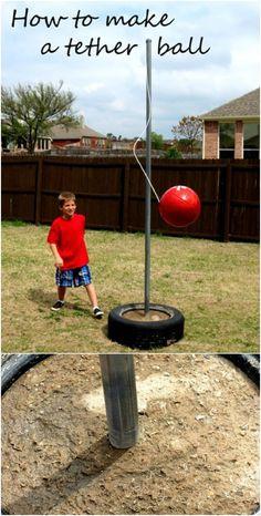 15 Joyful DIY Outdoor Play Areas Your Kids Will Love This Spring Diy Toys diy outdoor kid toys Outdoor Toys For Kids, Outdoor Play Areas, Backyard For Kids, Backyard Games, Outdoor Fun, Diy For Kids, Diy Outdoor Toys, Outdoor Structures, Tire Playground