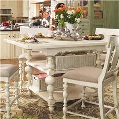 Paula Deen Home Gathering Table Set w/ 4 Counter Height Chairs by Paula Deen by Universal - Belfort Furniture - Pub Table and Stool Set Washington DC, Northern Virginia (NoVA), Maryland, and Dulles, VA